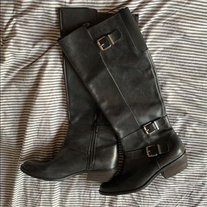 Dolce Vita black leather riding boots size 9